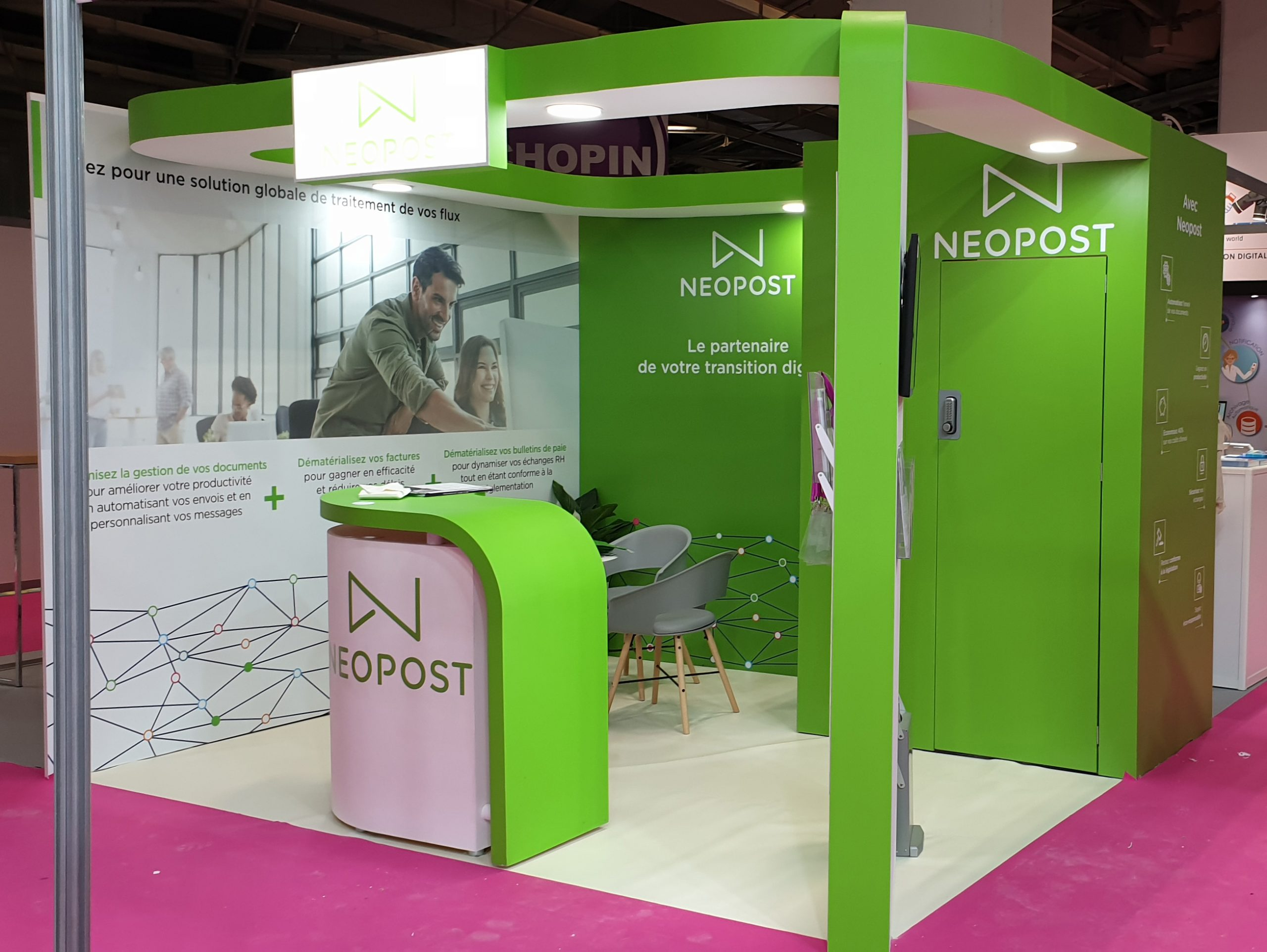 stand traditionnel 12m² Neopost