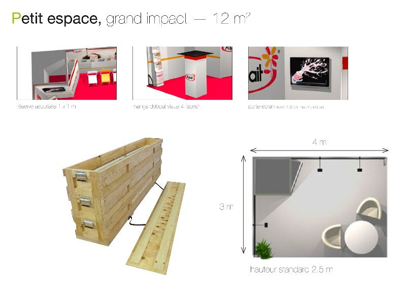 stand modulaire pliable