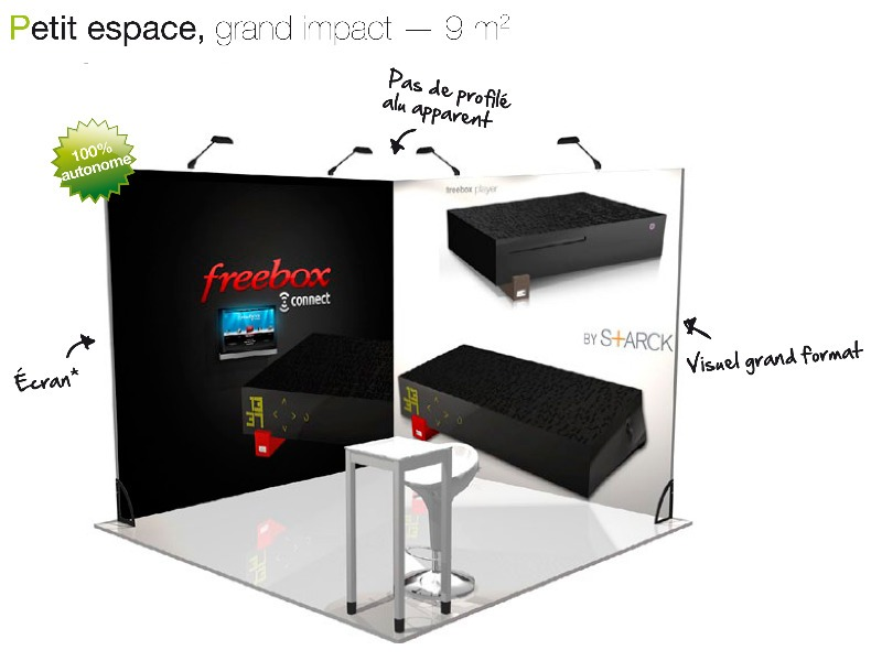 Stand traditionnel 9m²